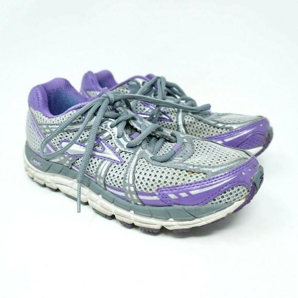a57b365a9fa72 Brooks Shoes - Brooks Addiction Running Shoes Purple Gray Size 7B